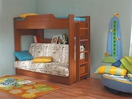 Детская двухъярусная кровать с диван-кроватью