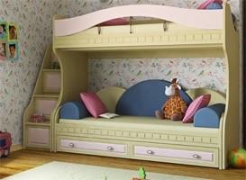 Детская двухъярусная кровать Итальянский мотив-1