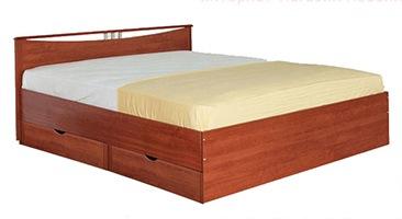 Двуспальная кровать Мелисса с одной спинкой и с ящиками