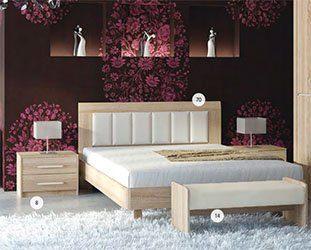 Кровать из ЛДСП №70 кровать - МК 44