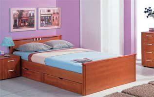 """Кровать """"Мелисса""""  (С двумя спинками, с ящиками)"""