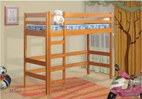 """Детская кровать-чердак """"Маяк"""" (сосна, бук, дуб)"""